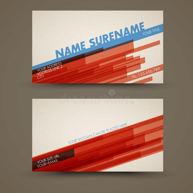 Vector old-style retro vintage business card vector illustration