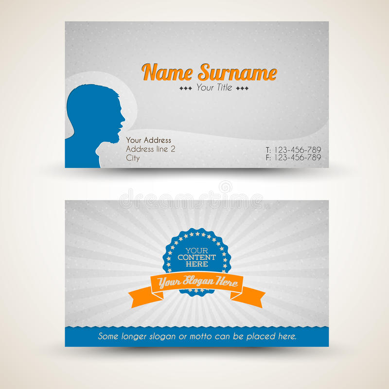 Download Vector Old-style Retro Vintage Business Card Stock Illustration - Image: 24264905