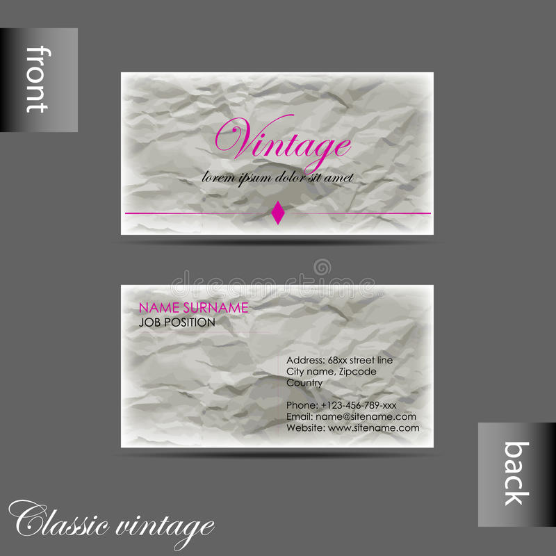 Vector old style retro vintage business card stock vector download vector old style retro vintage business card stock vector illustration of layout creative wajeb Choice Image