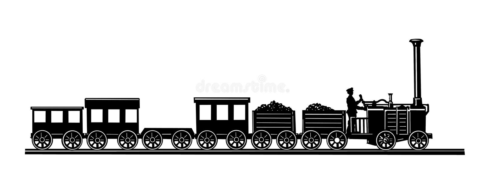 Download Vector Old-time Train Royalty Free Stock Photo - Image: 18365985