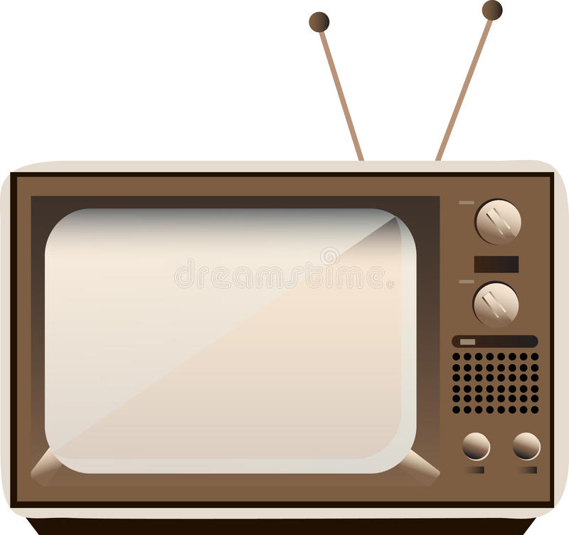 Vector old TV royalty free illustration