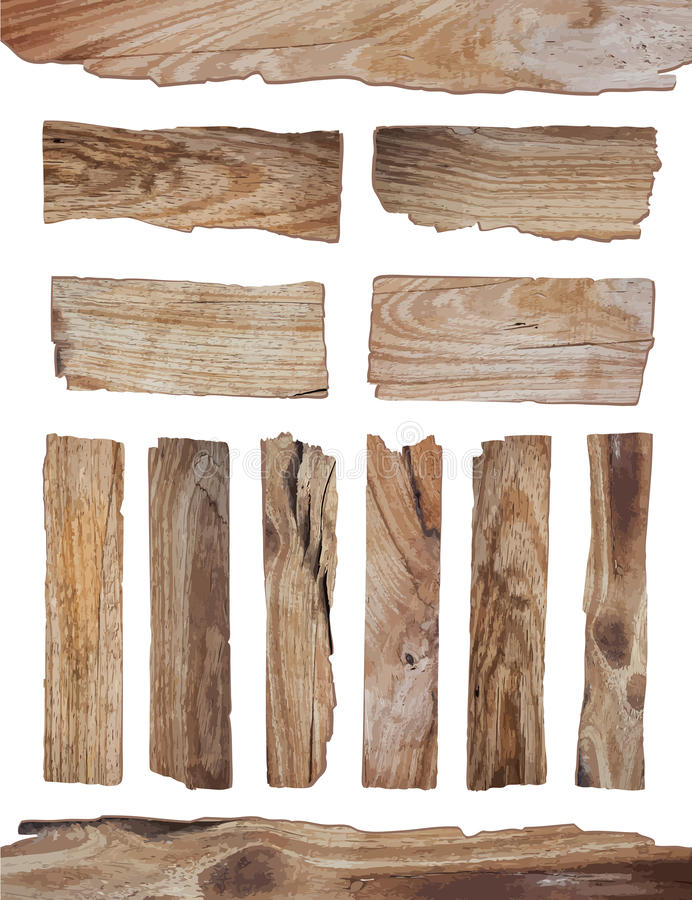 Free Vector Old Wood Plank On White Background Stock Photography - 56424092