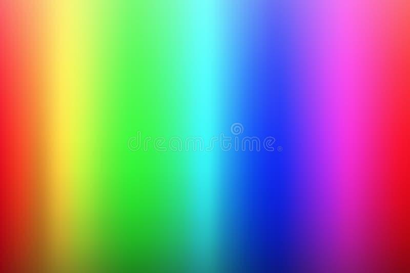 Vector olor Spektrumhintergrund, Regenbogenfarben, Palette von rgb stock abbildung