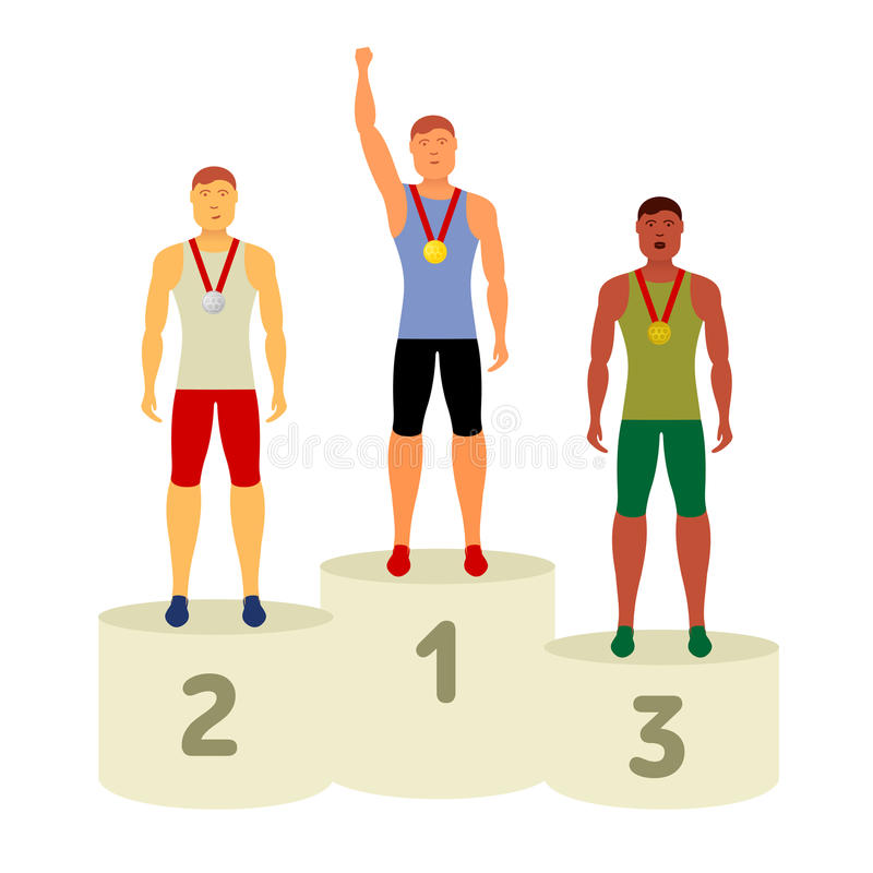 Vector Olympic attributes vector illustration