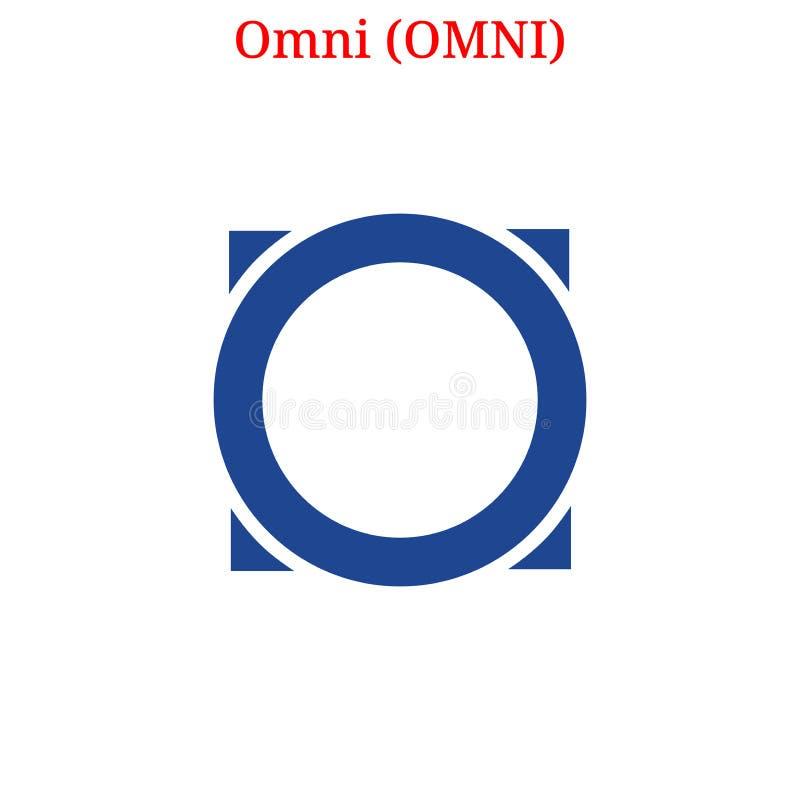 Vector Omni OMNI logo royalty free illustration
