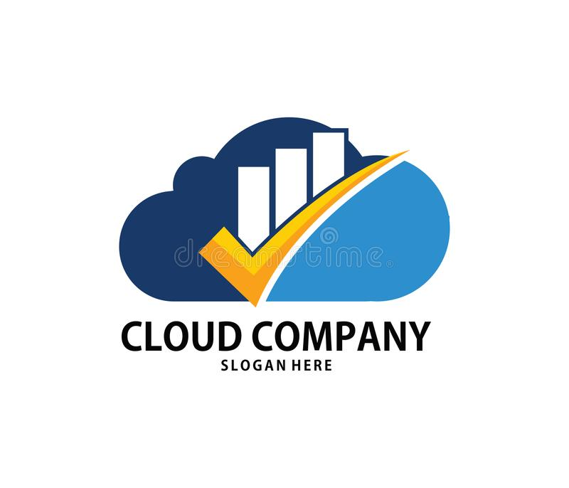 Download Vector Finance Goal Check Mark Cloud Online Cloud Storage Logo  Design Stock Illustration   Illustration