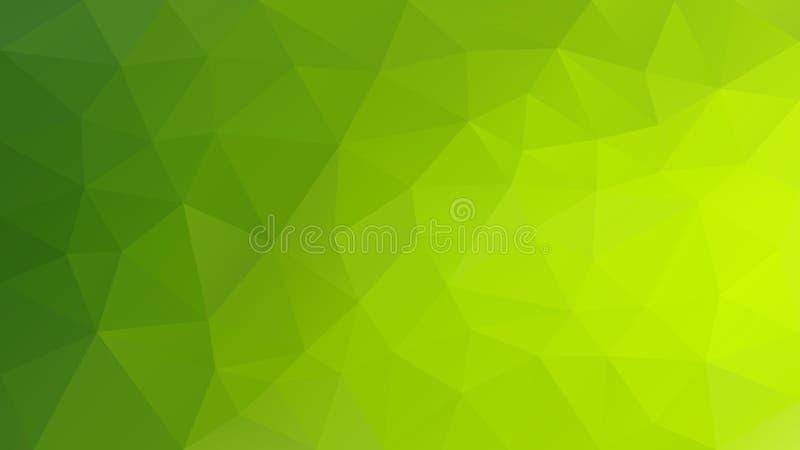 Vector onregelmatige veelhoekige achtergrond - driehoeks laag polypatroon - trillende hoogtepunt groene kleur royalty-vrije illustratie
