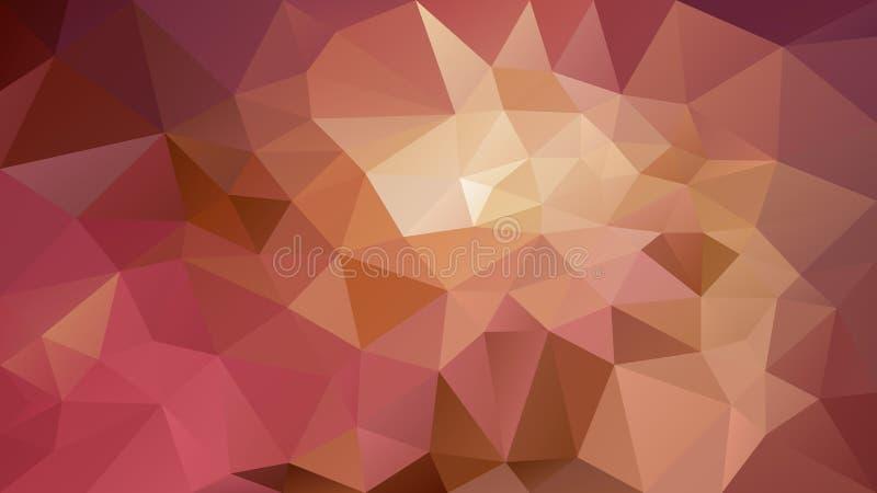 Vector onregelmatige veelhoekige gekleurd warm als achtergrond - het bruine, oude roze, nam, kameel, oker, p toe stock illustratie