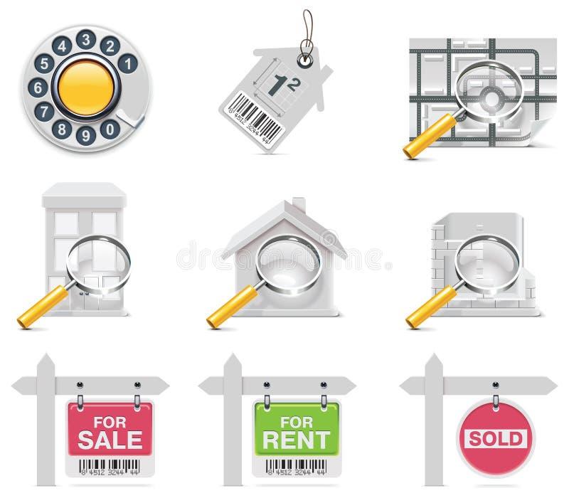 Vector onroerende goederenpictogrammen. Deel 3 stock illustratie