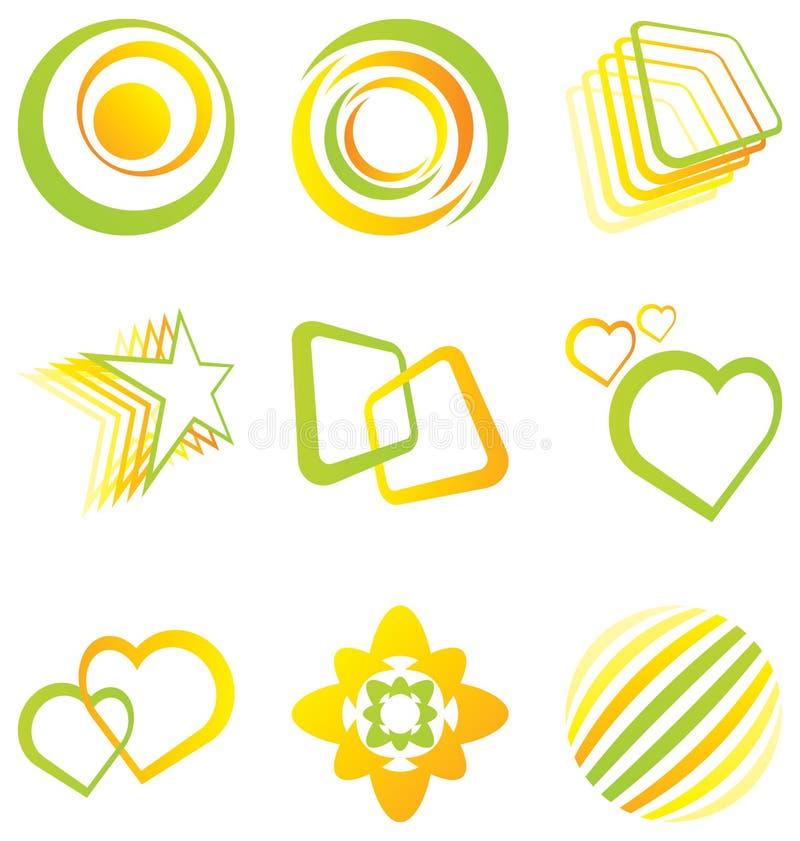Vector ontwerpelementen en emblemen royalty-vrije illustratie