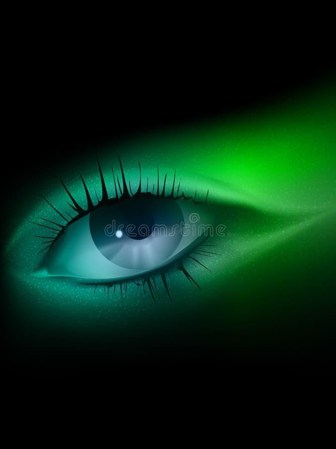 Vector oogillustratie stock illustratie