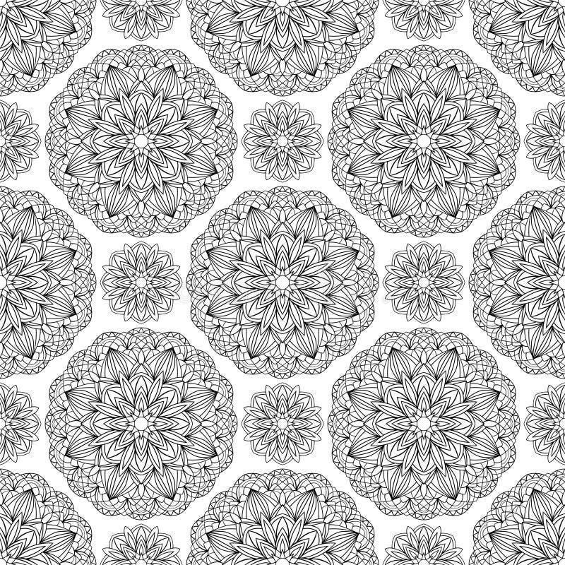 Vector, oosters, naadloos patroon stock illustratie