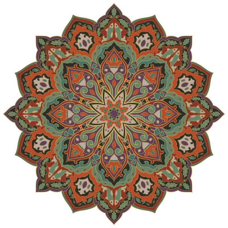 Vector oosterse mandala stock illustratie