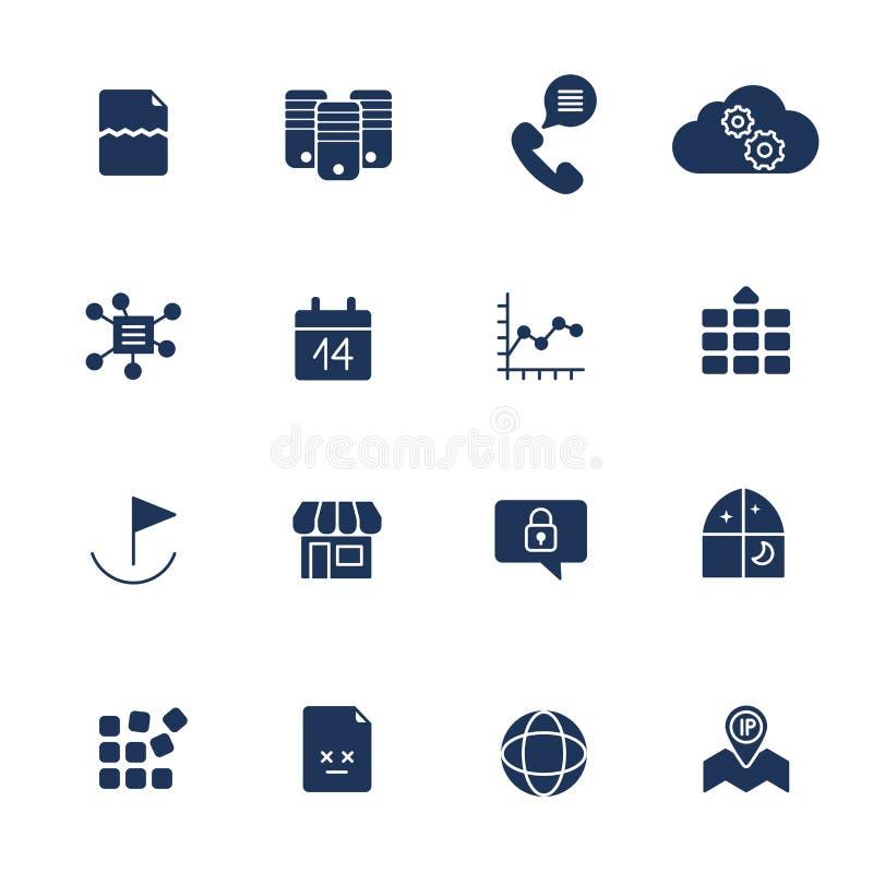 Vector op CMYK-wijze Pictogrammen voor Web, apps, programma's en andere royalty-vrije illustratie