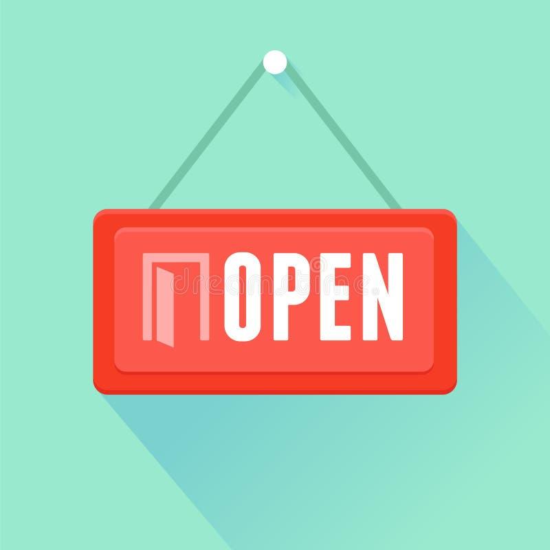 Vector open door sign stock illustration
