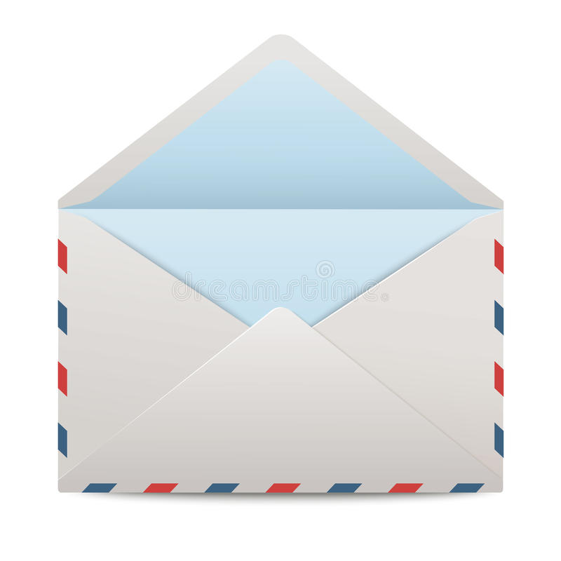 Vector open envelop royalty-vrije illustratie