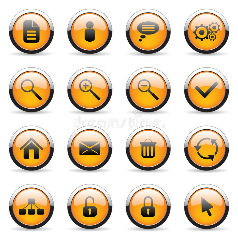 Vector orange buttons