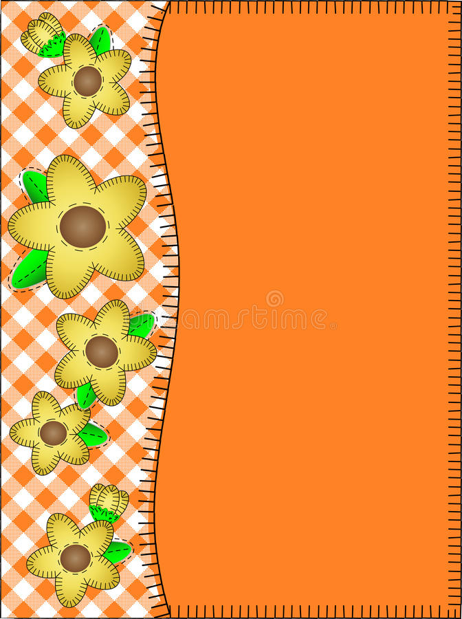 Vector Orange Copy Space With a Side Border of Gin royalty free stock photography