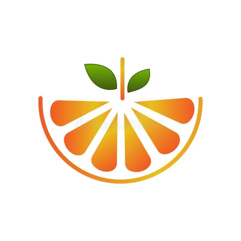 Vector fruit logo creative orange slice design illustration royalty free illustration