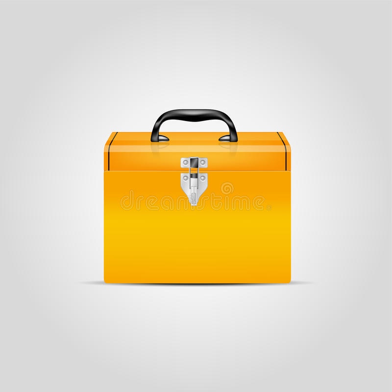 Download Vector orange toolbox stock vector. Image of toolbox - 37424612