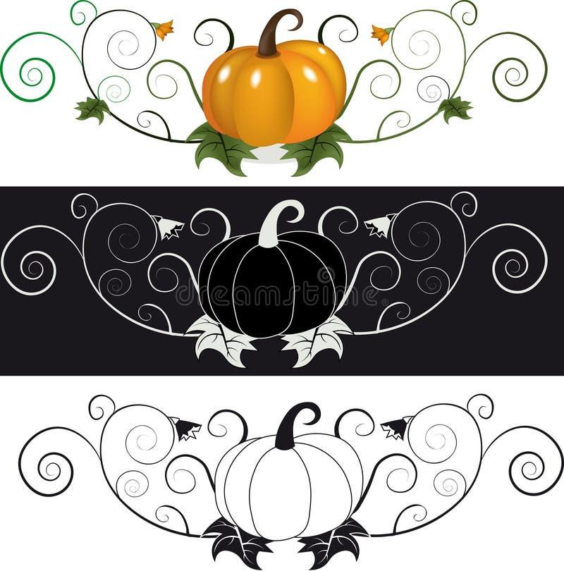 Vector oranje illustratie voor ontwerp royalty-vrije illustratie