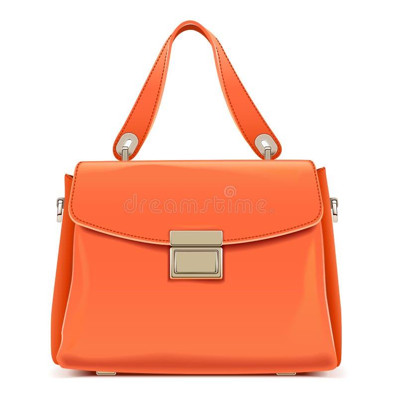 Vector Oranje Vrouwelijke Handtas vector illustratie