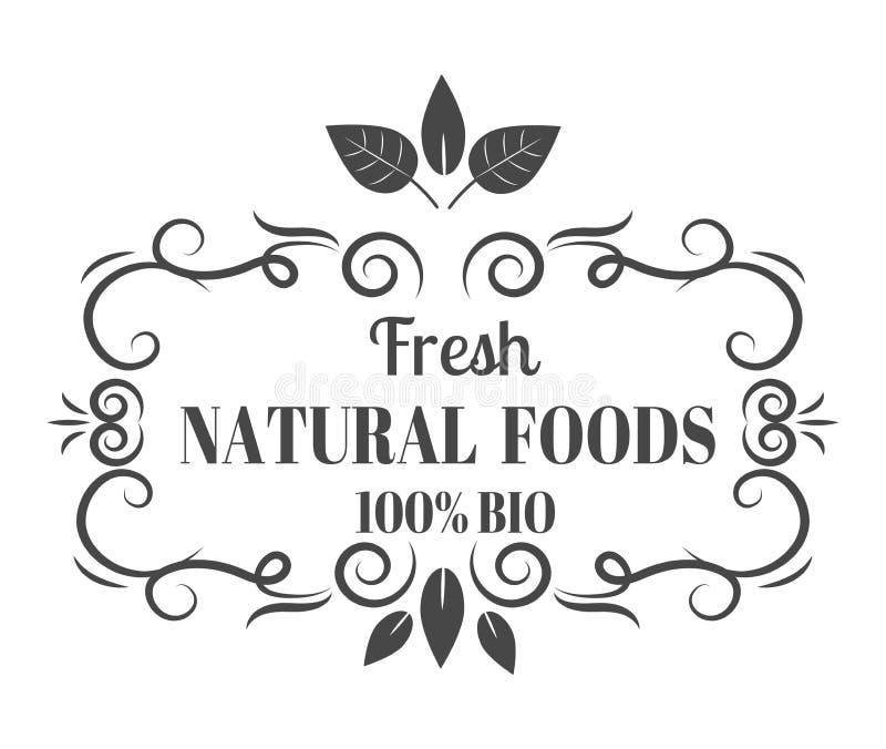 Vector orgánico de la insignia de la etiqueta del producto del eco natural libre illustration