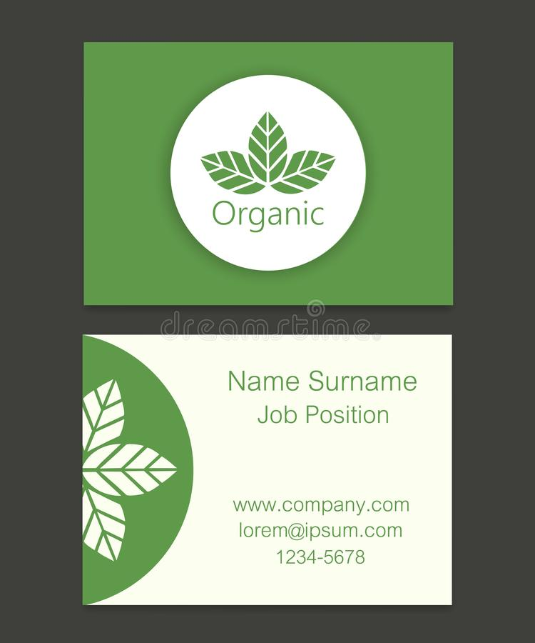 Vector Organic Leaves Business Card Illustration Stock Vector ...