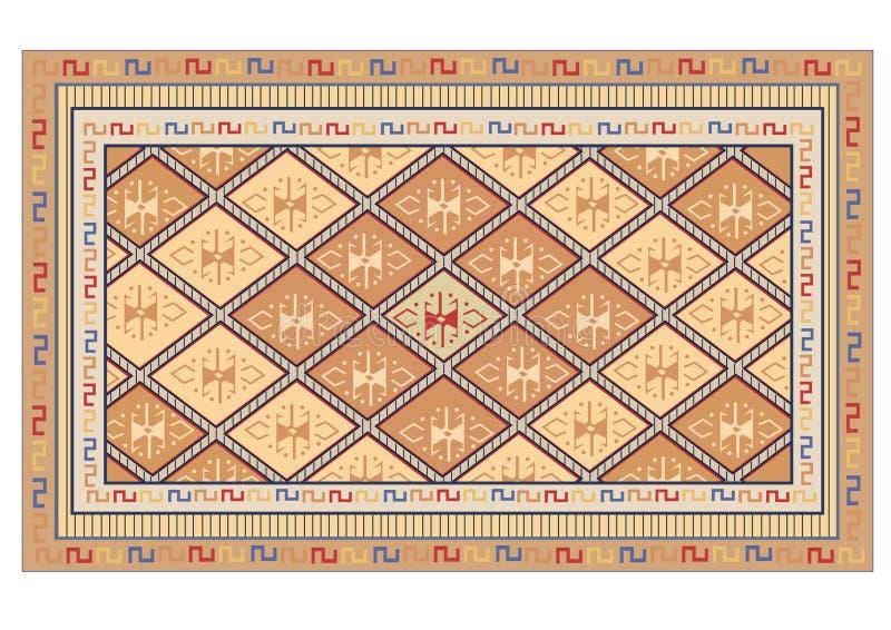 Vector oriental de la alfombra libre illustration
