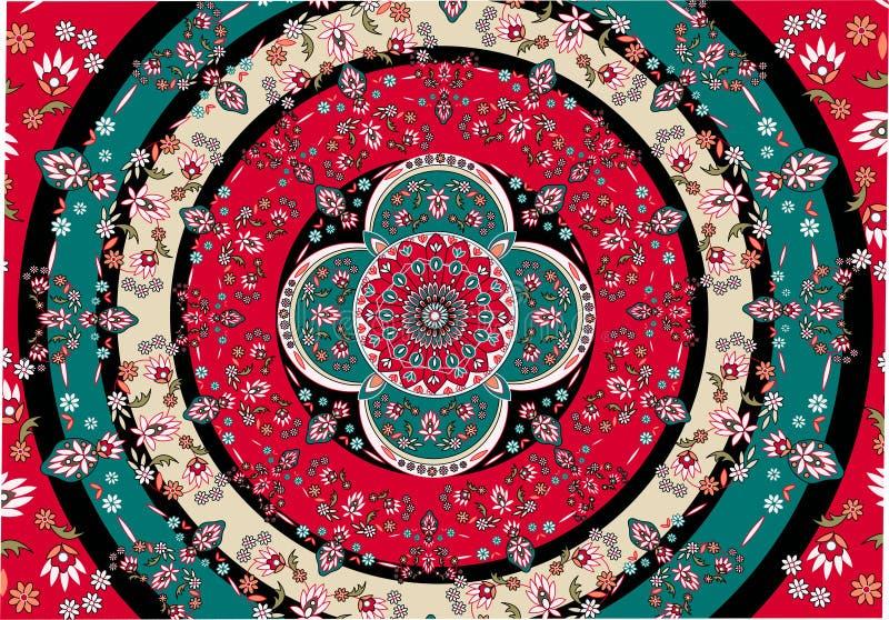 Vector oriental de la alfombra stock de ilustración