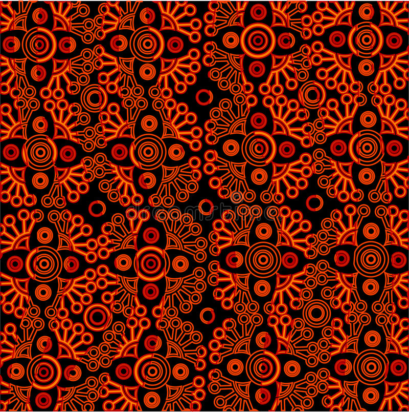 Vector oriental lace pattern royalty free illustration