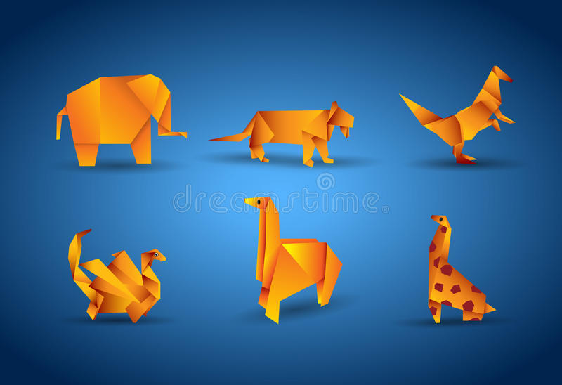 Vector origami animal royalty free illustration