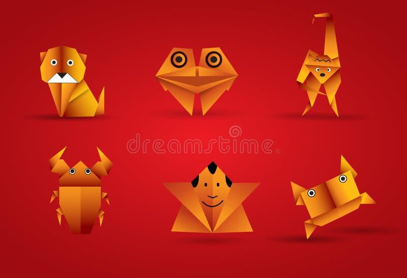 Vector origami animal royalty free illustration
