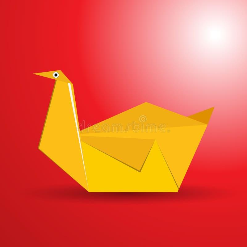 Vector origami bird stock illustration