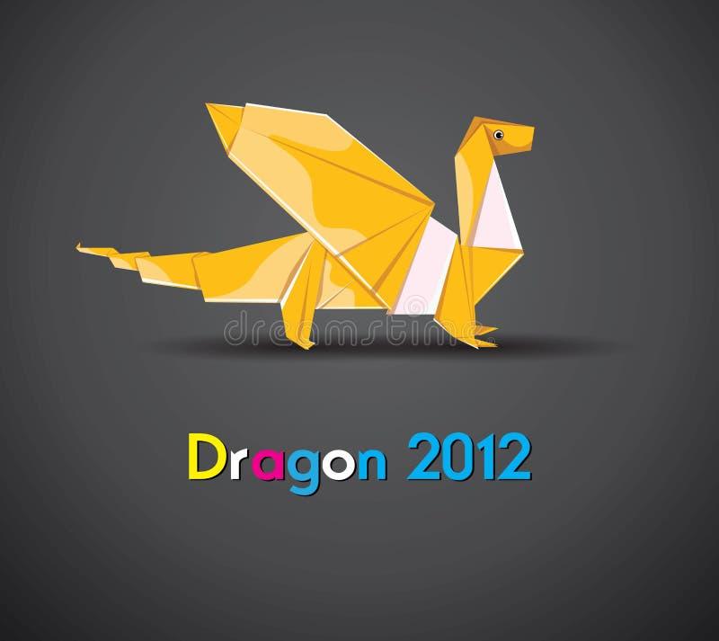 Vector origami dragon 2012 stock illustration