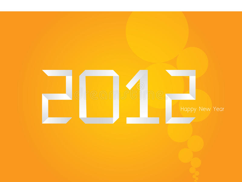 Download Vector Origami Orange New Year Card 2012 Stock Vector - Illustration of pattern, color: 22013829