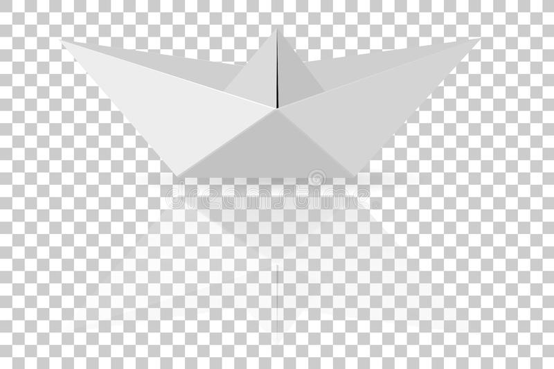 Origami, Yellow Bird, at Transparent Effect Background stock illustration