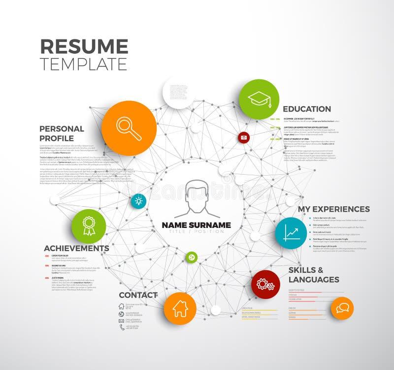 Vector original minimalist cv / resume template. Creative profile version royalty free illustration