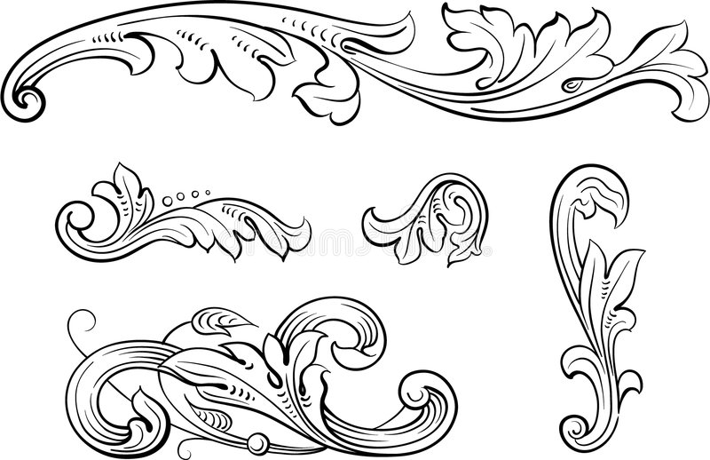 Vector ornament stock fotografie