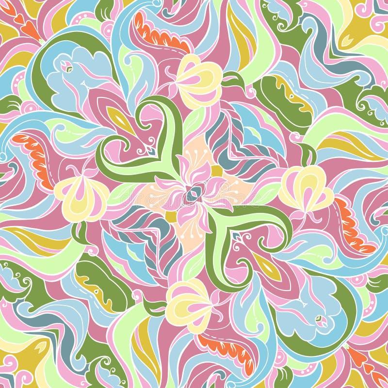 Vector Ornament of seamless Pattern. Vector Gentle ornament. Wedding pattern. Silk scarf stock illustration