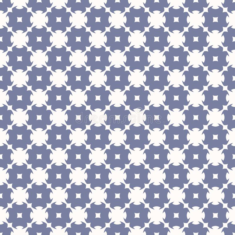 Vector ornamental seamless pattern in pastel colors, blue serenity and white. Vector ornamental seamless pattern in trendy pastel colors, blue serenity and white royalty free illustration