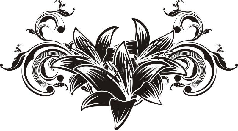 vector ornamentbloemen vector illustratie