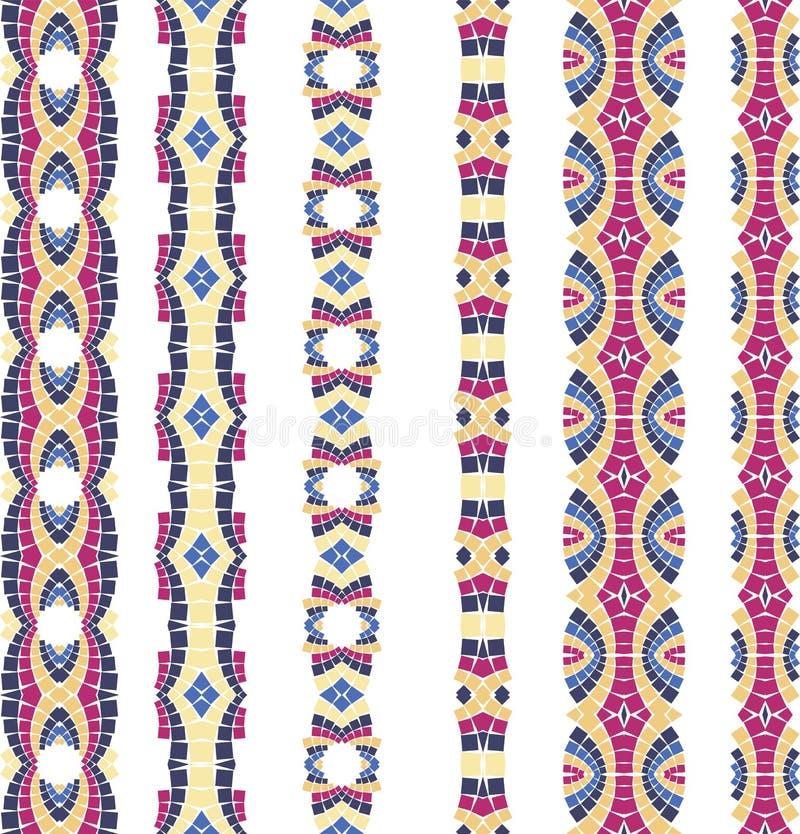 Vector ornamento sem emenda do mosaico ilustração stock
