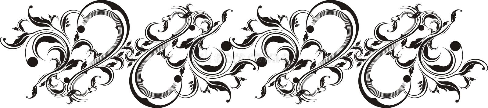 Vector ornaments. Floral ornaments in vector format, very easy to edit, individual objects royalty free illustration