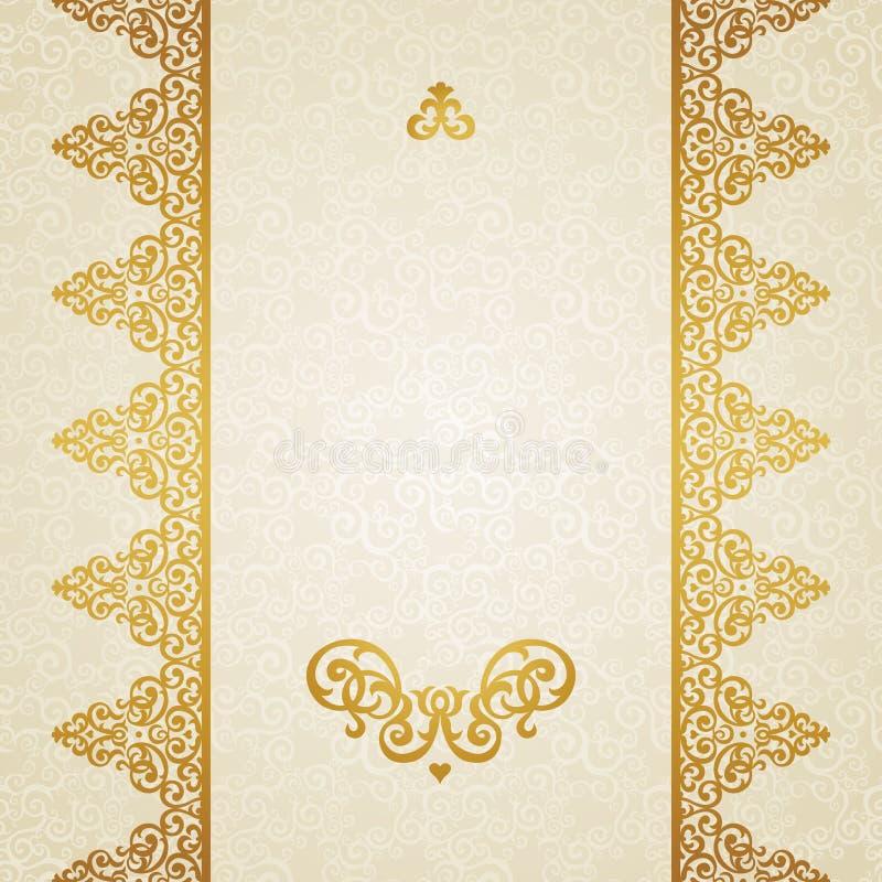 Vector ornate border in Victorian style. vector illustration