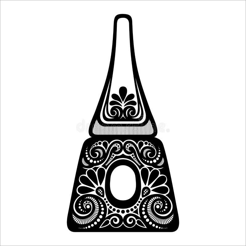 Vector Ornate Nail Polish vector illustration