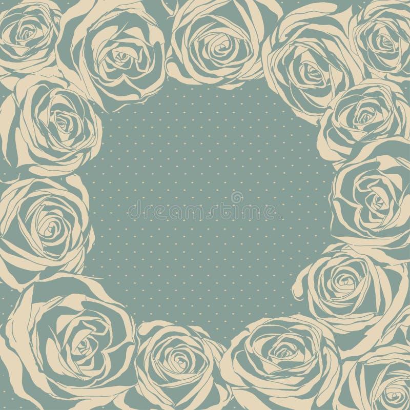 Vector ornate rose background. Easy to edit. stock illustration