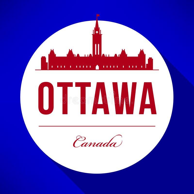 Vector Ottawa City Skyline Design royalty free illustration