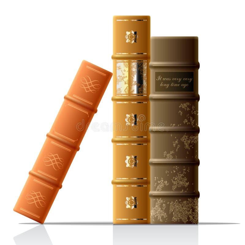 Vector oude boeken vector illustratie