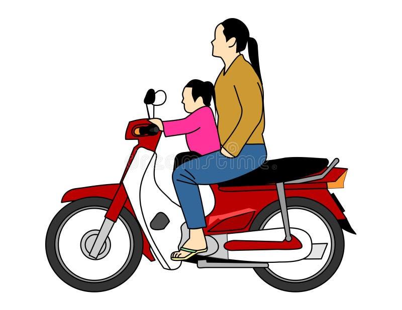 Vector - oude motorfietswijnoogst vector illustratie